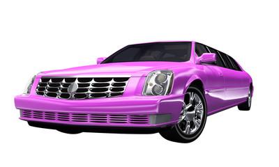 Stretchlimousine Pink - freigestellt