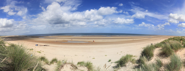 Holkham Beach Panorama Norfolk England