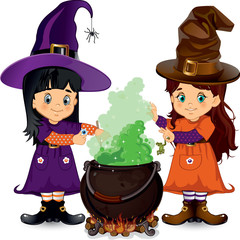 Witches white background