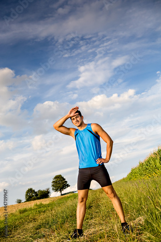 jogging through the fields