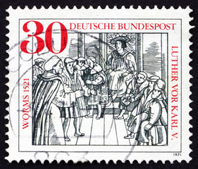 Postage stamp Germany 1971 Diet of Worms