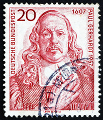 Postage stamp Germany 1957 Paul Gerhardt, hymn Writer