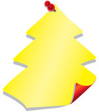 post it albero di natale