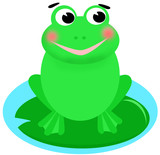 happy smiling frog