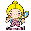 Aphrodite, the goddess of beauty