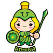Goddess of war Athena
