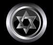 hebrew Jewish Star of magen david in black button