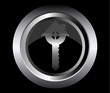 house key real estate business on metal button black