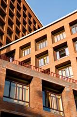 Architecture concept, brick buldings