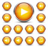 Player Button Set Orange