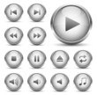 Player Button Set Silber