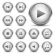 Player Button Set Silber