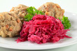 Tyrolean dumplings with red kraut