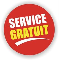 bouton service gratuit