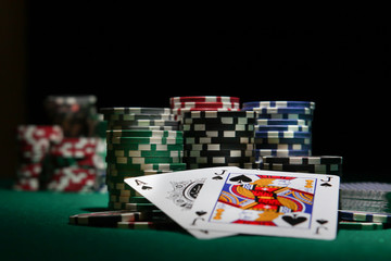 blackjack in a casino
