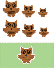 vector owls with cut out