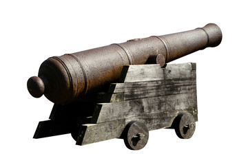 Antique artillery isolated