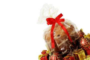 Isolated xmas food - panettone
