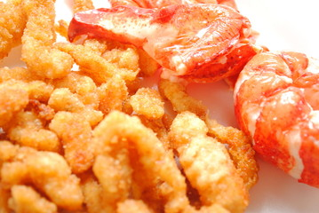 Fried Clams with Lobster