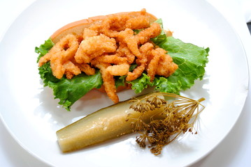 Clam Roll with Dill Pickle