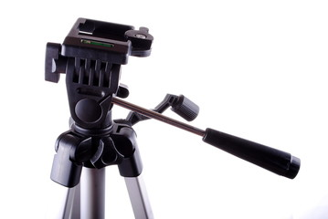professional studio tripod isolated on white background