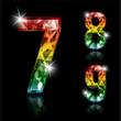 Spectrum diamond digits - colorful design elements