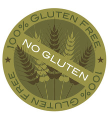 Wheat Stalk 100% Gluten Free Label