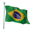 Brazil Flag Detail Render