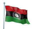Malawi Flag Detail Render