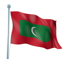 Maldives Flag Detail Render