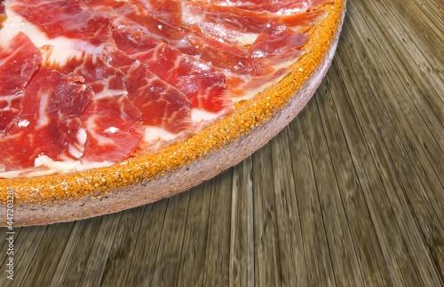 Plato de jamón iberico.