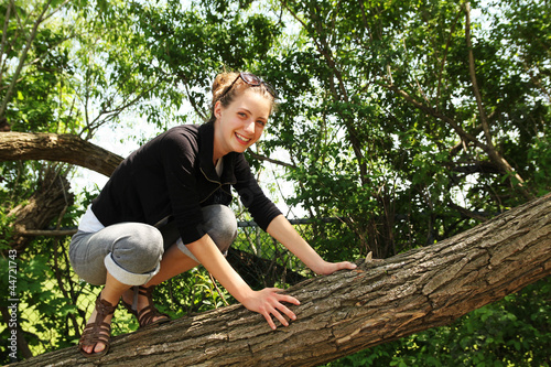 Teen in a tree