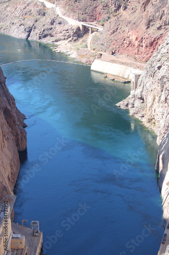 River and Water below Hoover Dam