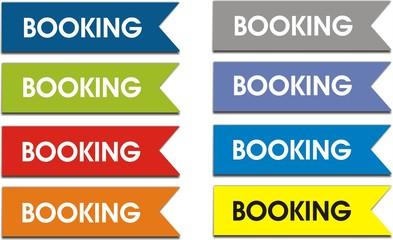 étiquettes booking