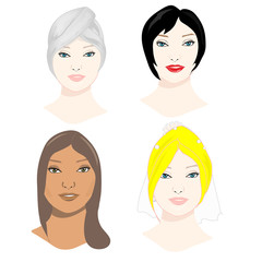 women faces collection