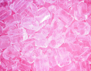 ice cubes pink style background