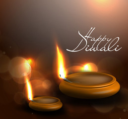 vector diwali diya oil lamp