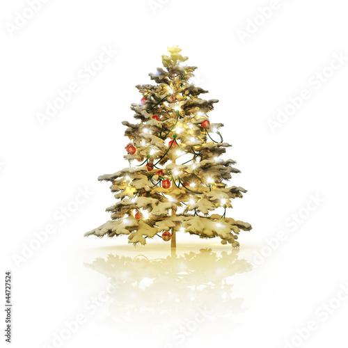 geschm ckter verschneiter weihnachtsbaum 3d von gunnar. Black Bedroom Furniture Sets. Home Design Ideas