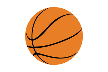 Silhouette of a basketball