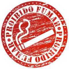 Carimbo - proibido fumar
