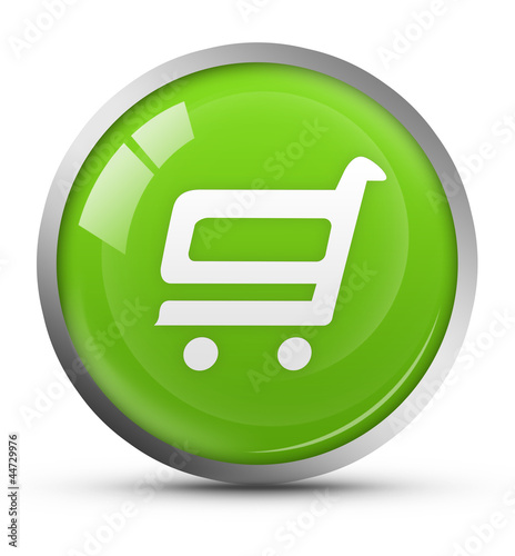 Glossy shopping cart icon