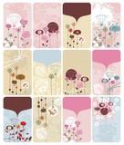 Fototapety Seasonal Floral Gift Cards