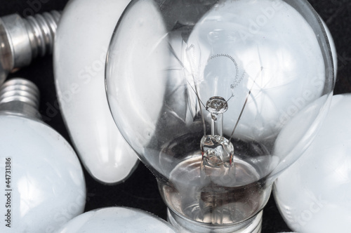 White lightbulb closeup
