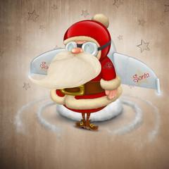 Santa Claus rocket