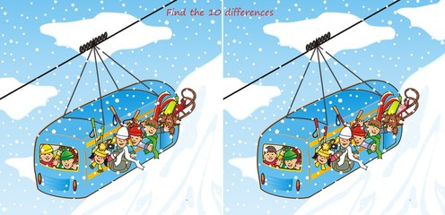 cableway in winter-quiz