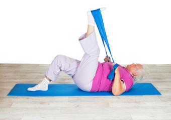 Senior woman exercising for mobility