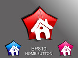 abstract glossy home icon