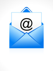 abstract blue email icon