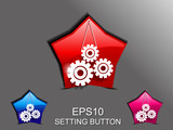 abstract glossy settings icon