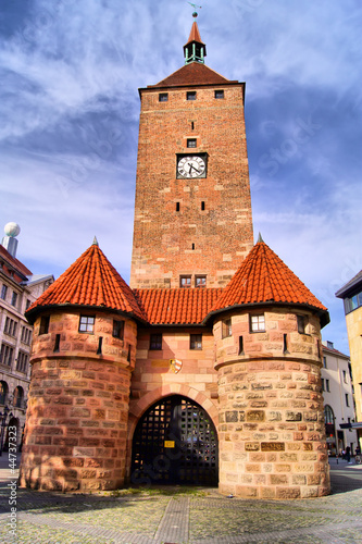 Medieval tower gate in the Old Town of Nuremburg
